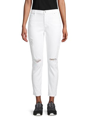 7 For All Mankind Josefina Destruction Cropped Jeans