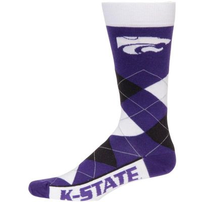 Kansas State Wildcats For Bare Feet Argyle Crew Socks