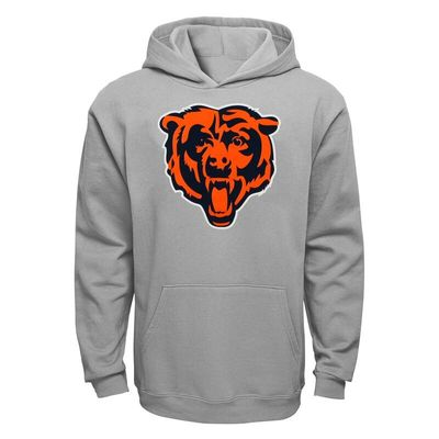 Chicago Bears Youth Current Logo Pullover Hoodie - Gray