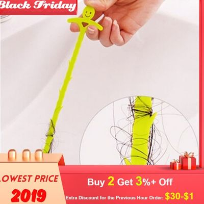 New Sink Cleaning Hook Bathroom Floor Drain Sewer Dredge Device Small Tools Hair Stoppers Catchers Easy to Clean the hair#