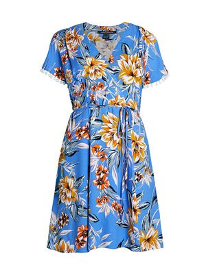 French Connection Claribel Floral Wrap Dress