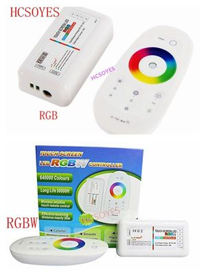 Touch Screen LED RGB RGBW Controller 2.4G Wireless DC12-24V Touch RF Control For RGB /RGBW LED Strip 18A remote controller