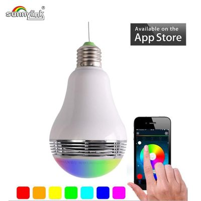 E27 SMART LED BULB BLUETOOTH SPEAKER , COLORFUL WIRLESS LED LAMP SPEAKER BLUETOOTH , WITH ANDROID/IOS APP REMOTE CONTROL