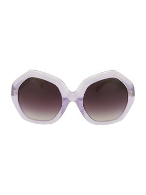 Linda Farrow 57MM Geometric Sunglasses