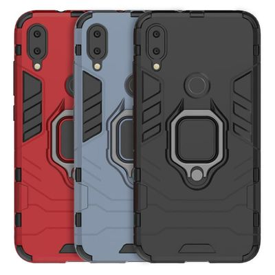 Phone Case for Xiaomi Redmi Note 7 Back Cover PC + TPU Case Finger Ring Stand Car Holder Protect Case Mobile Phone Accessories