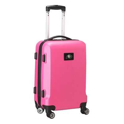 Colorado Buffaloes 20In 8-Wheel Hardcase Spinner Carry-On - Pink