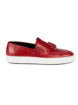 Canali Leather Tassel Loafers
