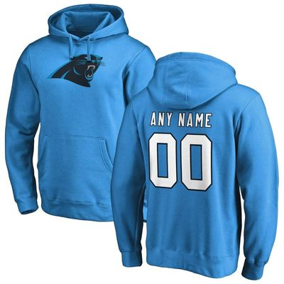 Carolina Panthers NFL Pro Line Personalized Name & Number Logo Pullover Hoodie - Blue