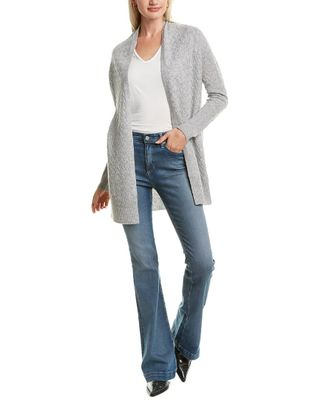 Forte Cashmere Twisted Cable Cashmere Cardigan
