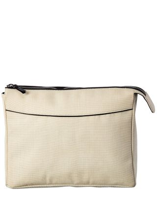 The Row Two For One 12 Canvas & Leather Pouch