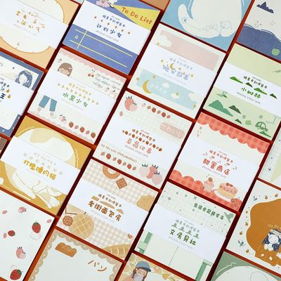 Mohamm Lovely Series Kawaii Cute Stick Notes Memo Pad Diary Stationary Flakes Scrapbook Decorative Sticky Notes