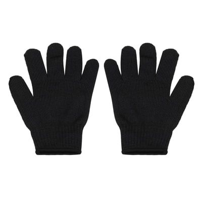 1 Pair Black Profession Protect Mittens Anti-slash Stab Proof Wire Safe Butcher Gloves Garden Tools Protective Gears