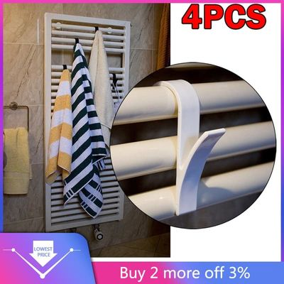 4pcs High Quality Hanger For Heated Towel Radiator Rail Bath Hook Holder Household Accessories 2019 New Arrivals Best Selling