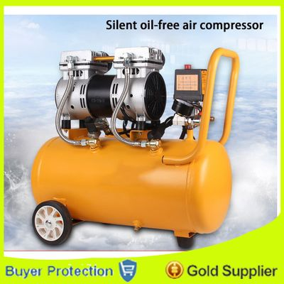 Air Compressor Oil Free Low Noise Silent Oil-free Pump For Pneumatic Part Cylinders Filling Machine Free Shipping 1000w 30L Tank