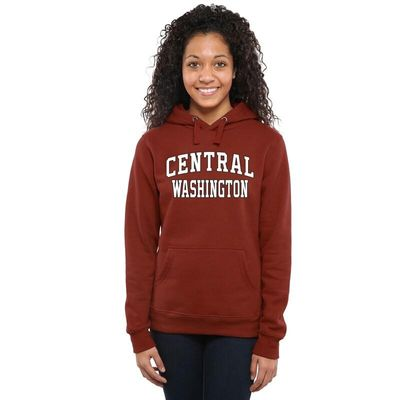 Central Washington Wildcats Women's Everyday Pullover Hoodie - Cardinal