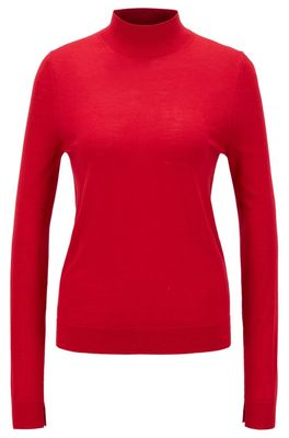 HUGO BOSS - Mock Neck Sweater In Virgin Wool