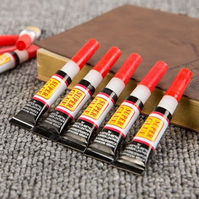 10pcs Liquid Super Glue 502 Instant Strong Bond Leather Wood Rubber Metal Glass Cyanoacrylate Adhesive Stationery Store Nail Gel