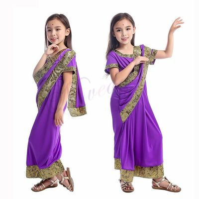 Indian Saree Party India Sari Dress Bollywood Girls Traditional Indian Clothes For Kids Children