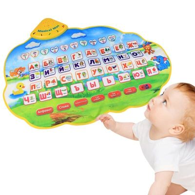 Kids Learning Mat Russian Alphabet Learning Toy Language Early Education Toy Mat M09