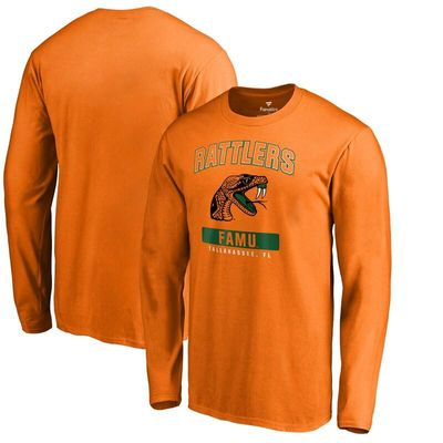 Florida A & M Rattlers Campus Icon Long Sleeve T-Shirt - Orange