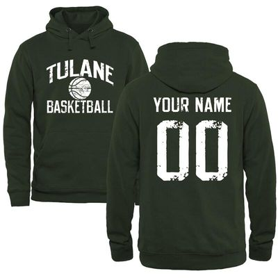 Tulane Green Wave Distressed Basketball Pullover Hoodie - Green