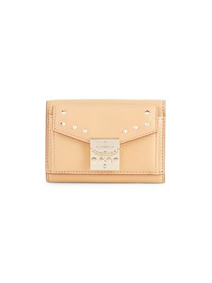 MCM Studded Leather Wallet