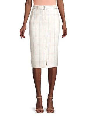 Hugo Boss Valyris Ponte Check Long Pencil Skirt