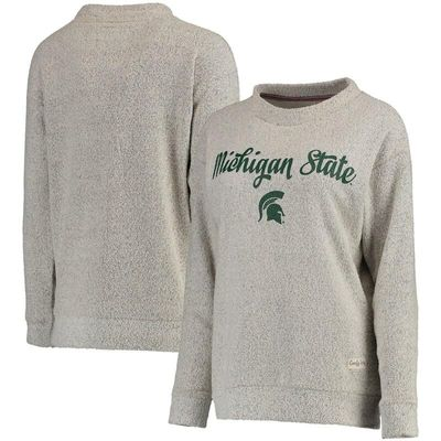 Michigan State Spartans Pressbox Women's Comfy Terry Crew Sweatshirt - Cream