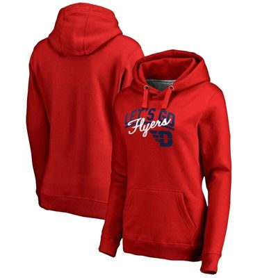 Dayton Flyers Women's Let's Go Pullover Hoodie - Red