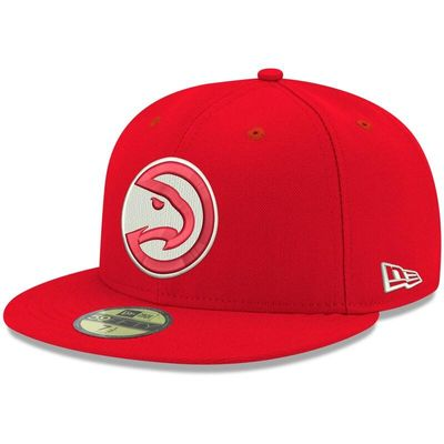 Atlanta Hawks New Era Official Team Color 59FIFTY Fitted Hat - Red