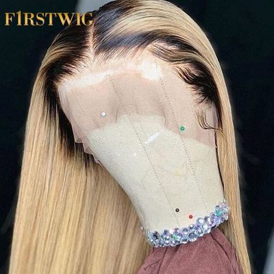 Straight T1B613 Blonde Bob Wig Brazilian Lace Front Human Remy Hair Wigs 13x4 Pre Plucked With Baby Hair 130 deinsity Firstwig
