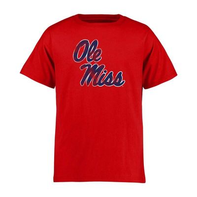 Ole Miss Rebels Youth Classic Primary T-Shirt - Red