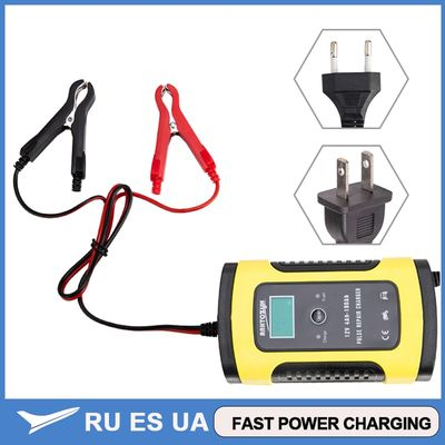 Full Automatic Car Battery Charger 110V To 220V To 12V 6A LCD Smart Fast for Auto Car Motorcycle Lead-Acid Batteries Charging