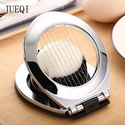 JueQi Egg Slicer, Egg Tool Heavy Duty Slicer for Strawberry Fruit Garnish Slicer, Stainless Steel Wire with 3 Slicing Styles