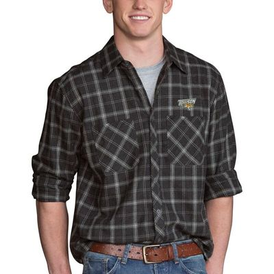 Towson Tigers Brewer Flannel Long Sleeve Shirt - Charcoal