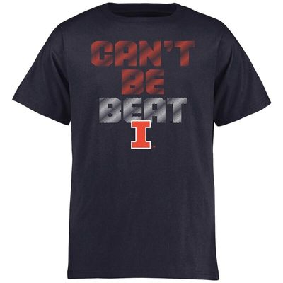 Illinois Fighting Illini Youth Can't Be Beat T-Shirt - Navy
