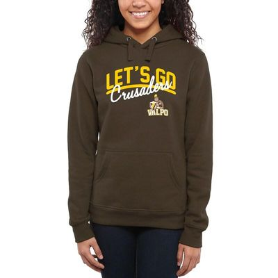 Valparaiso Crusaders Women's Let's Go Pullover Hoodie - Brown