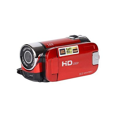 Video Camcorder C100 HD 2.7Inches 16X Zoom For Child-Red