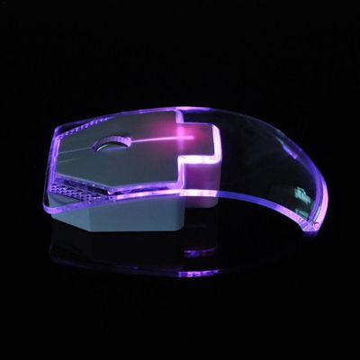 1.3m Transparent Mouse for Laptop Desktop Silent Gamer Colorful LED Power Saving Glow Gaming Mouse Mice Newest Fashion #BO