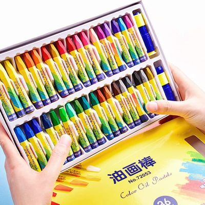36 Colors Crayons Colored Oil Pastel Set Crayons Non-toxic Safe for Kids Children Drawing Painting School Painting Supplies