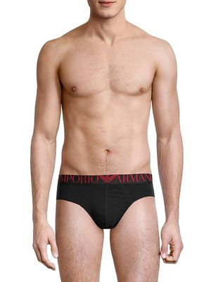 Emporio Armani Logo Cotton-Blend Brief