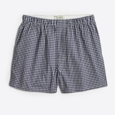 J.Crew Factory Navy Gingham Woven Boxers