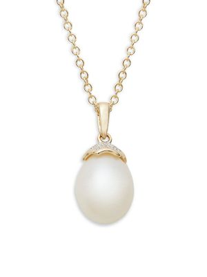 Saks Fifth Avenue 14K Gold Pearl Diamond Necklace