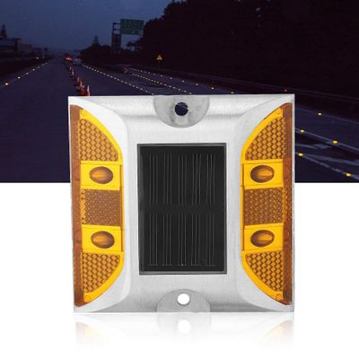 Road Stud Light Outdoor Solar Powered Lamp Casting Aluminum Road Stud Lights For Pathway Road Free Shipping Road Stud Light