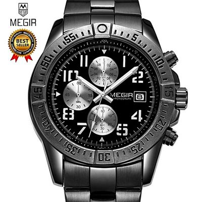 2017 New MEGIR Men's Chronograph Casual Watch Luxury Brand Quartz Wrist Watches Military Men Clock Male Waterproof Sport Watch 2030G