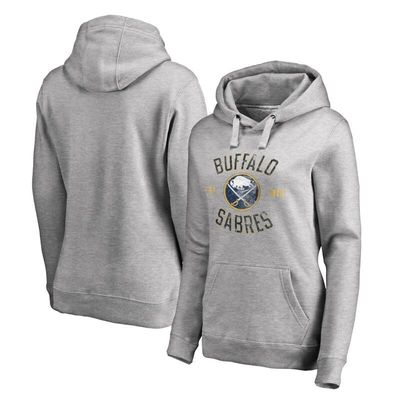Buffalo Sabres Women's Heritage Pullover Hoodie - Ash