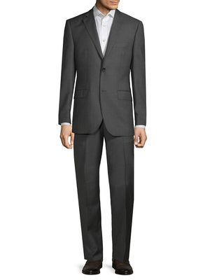 Saks Fifth Avenue Made in Italy Classic-Fit Tonal Plaid Wool Suit