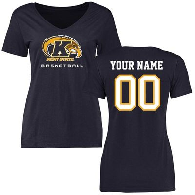 Kent State Golden Flashes Women's Personalized Basketball T-Shirt - Navy