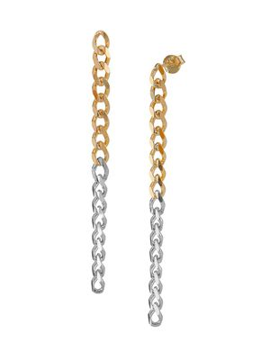 Gabi Rielle City Of Lights Curb Chain Long Link Earrings