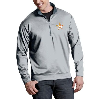 Houston Astros Antigua Leader Quarter-Zip Pullover Jacket - Silver